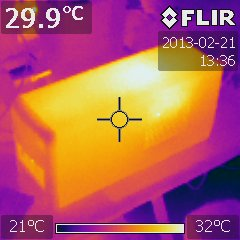 FLIR image of the atomic clock